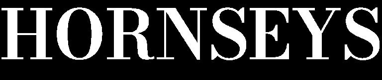 Hornseys White Logo