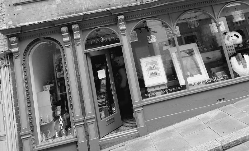 Outside Hornseys Gallery