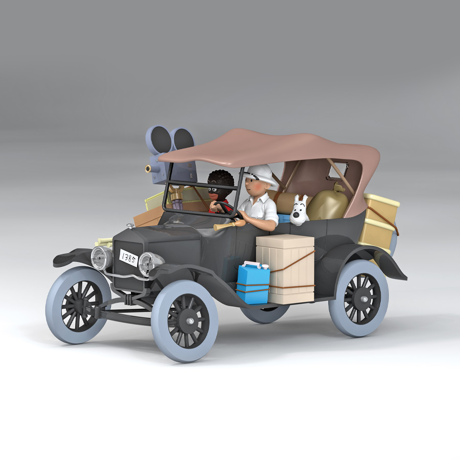 Tintin Vehicle Scale: 1/24 - The Ford Model T Jeep