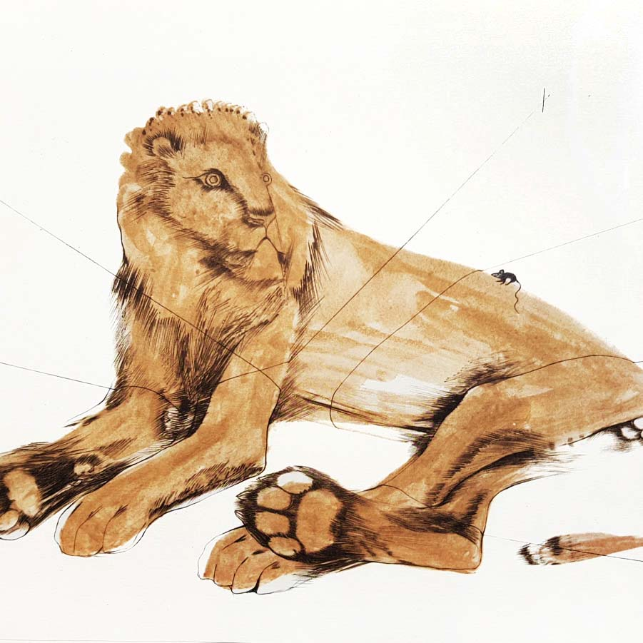 Elizabeth Frink - The Lion and the Mouse Category Image
